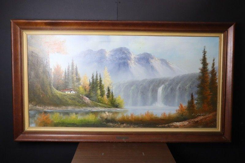 Mount shasta robert wood oil painting wood oil