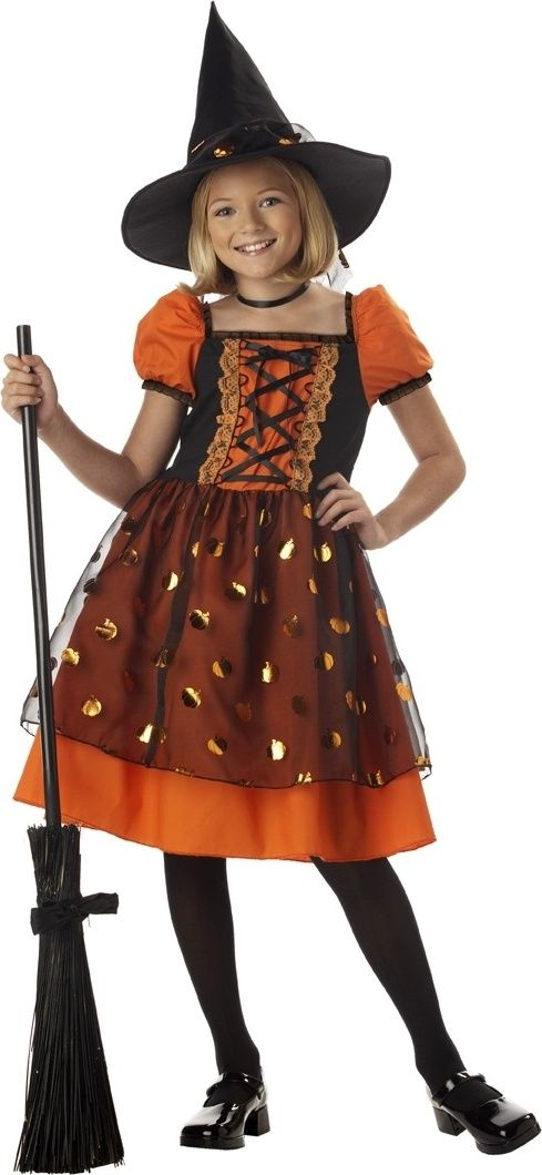 Pretty Pumpkin Kids Witch Costume | Witchy Costumes for Girls and ...