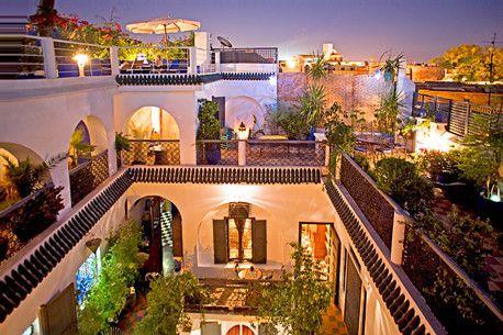 Riad Chouia Chouia Marrakech Spanish Style Architecture Moorish Design Courtyard House