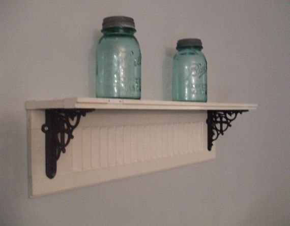 Vintage Salvage Shutter Shelf by SalvageInsanity on Etsy