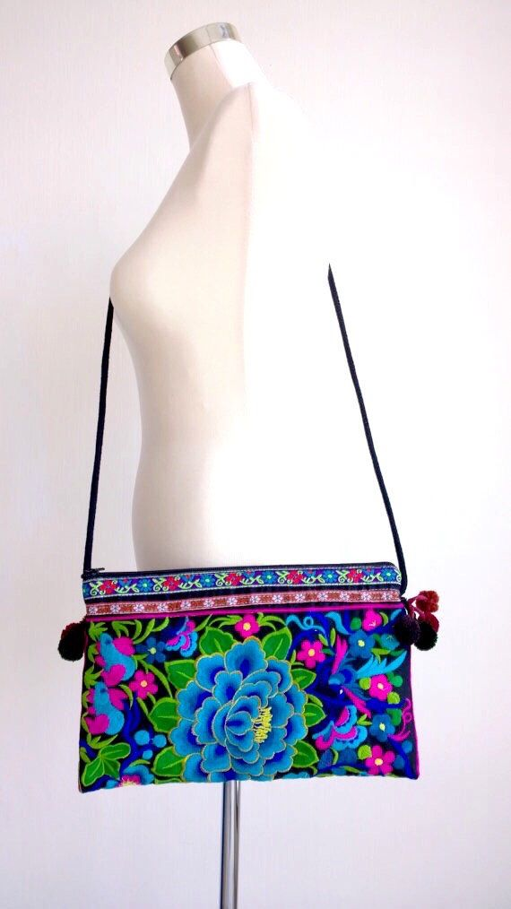A personal favourite from my Etsy shop https://www.etsy.com/sg-en/listing/260245489/boho-hmong-floral-embroidery-crossbag