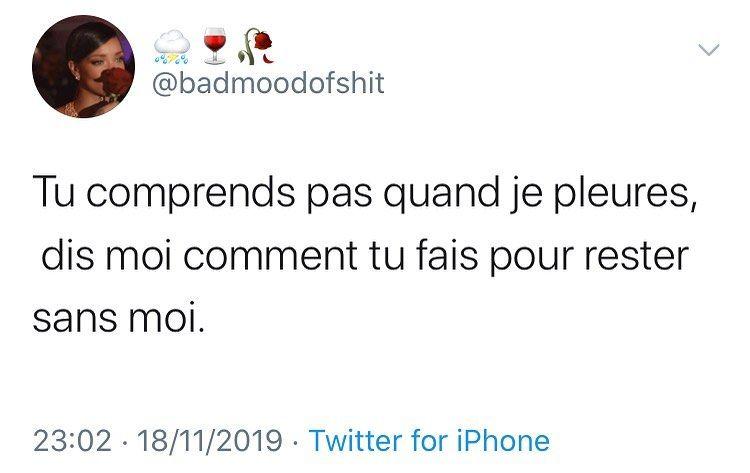 Jazirmusic Badmoodofshit Badmood Citation Tweet Phrases Instagram Insta Inspiration Motivation Amour Lol Thread Cesoirtribunal Philosophi Love