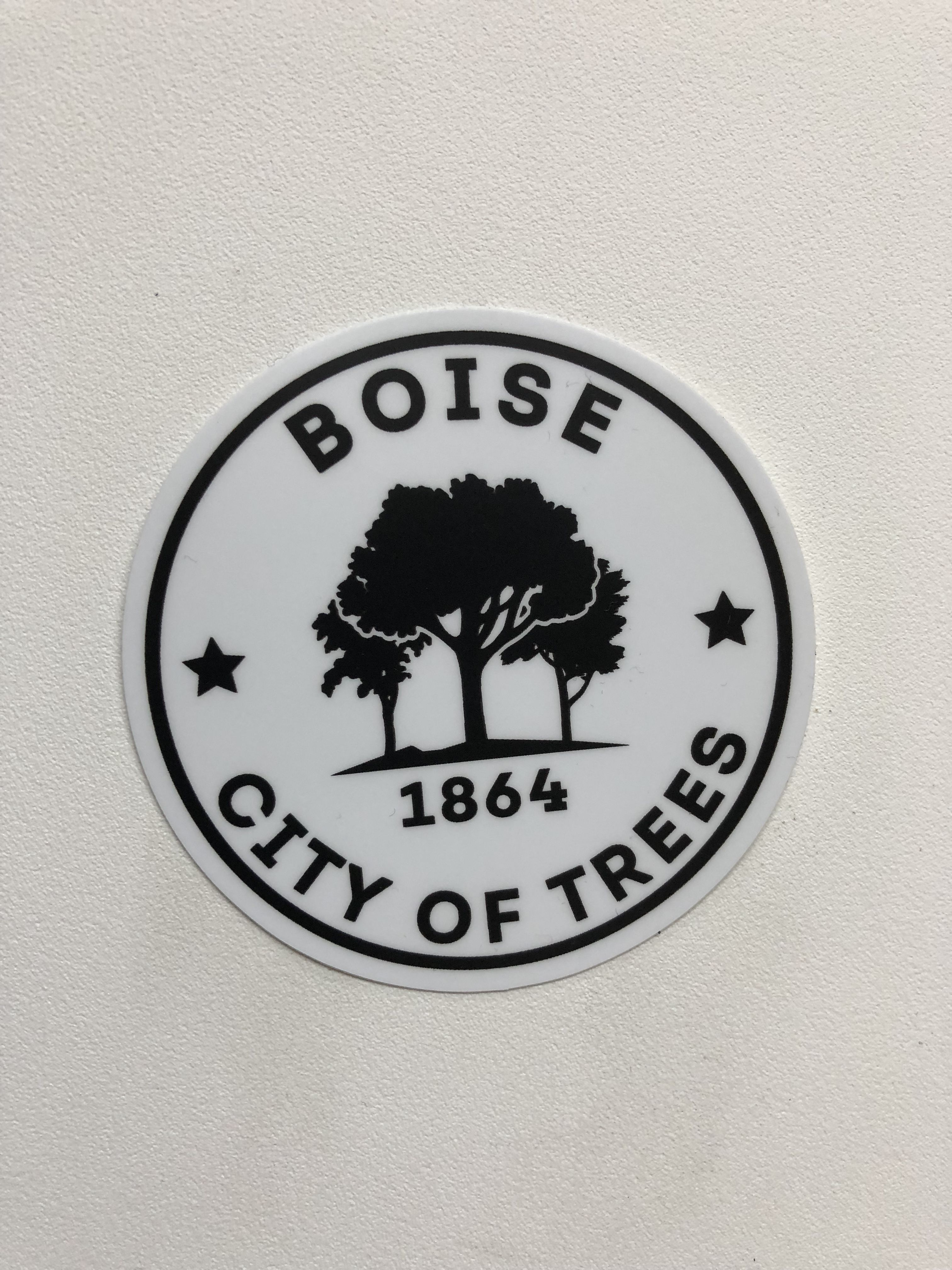 Boise city of trees 1864 sticker represent boise and the beautiful city we