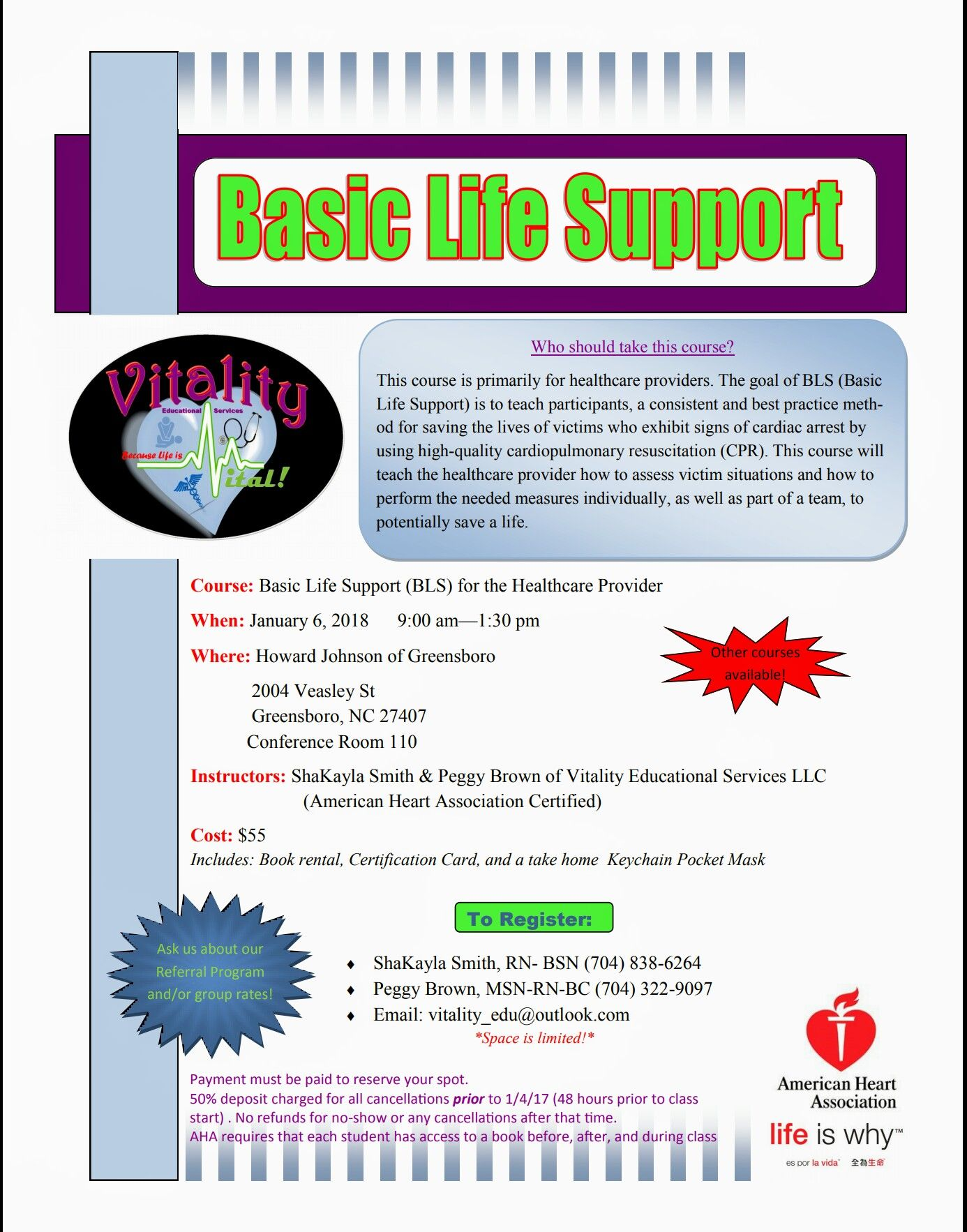 Basic Life Support Course Available In Greensboro Nc You Never Know