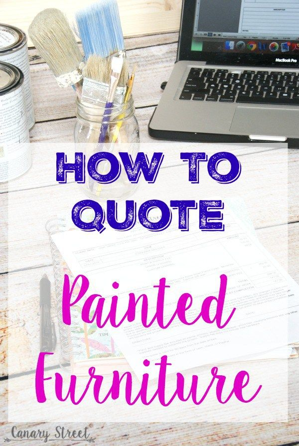 How To Quote Painted Furniture  Order Form Custom Furniture And