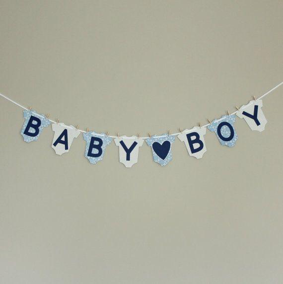boy baby shower decor baby boy banner blue baby shower decor