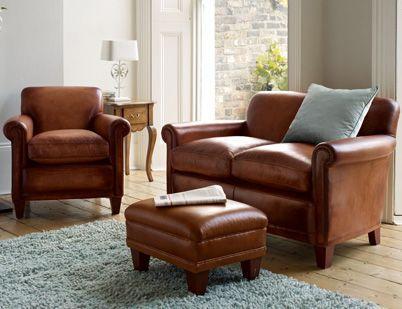 Burlington Leather Small 2 Seater Sofa Laura Ashley Made To