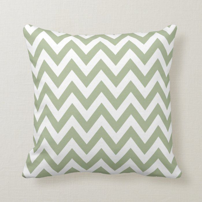 Sage Green Chevron Zigzag Pattern Throw Pillow -   17 sage green living room decor inspiration ideas