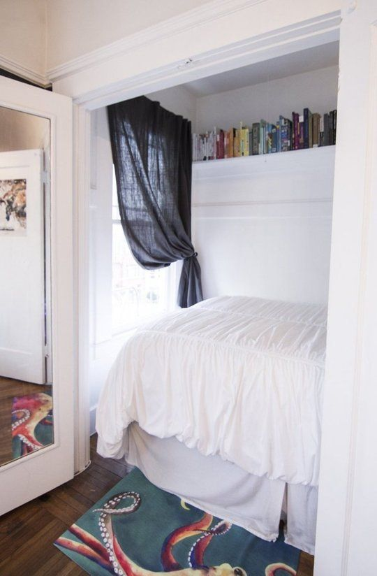 Bed  Bedroom in a Closet Tips From Our Tours  Creating Private Space in  Studios. Tips From Our Tours  Creating Private Space in Studios or Lofts