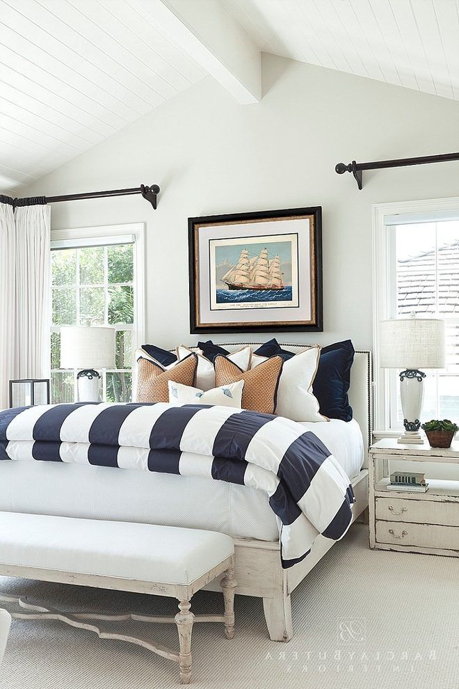 Nautical Bedroom Furniture Beach Style With Master Los Angeles Interior Designer