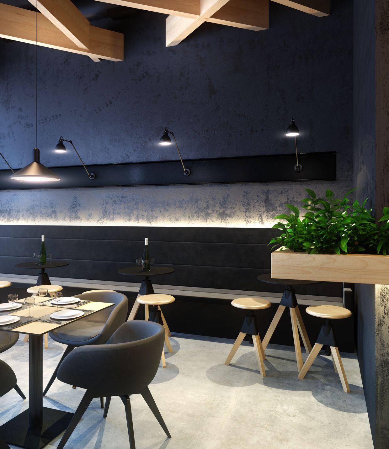 projet 3d design dinterieur restaurant le bristol vue h