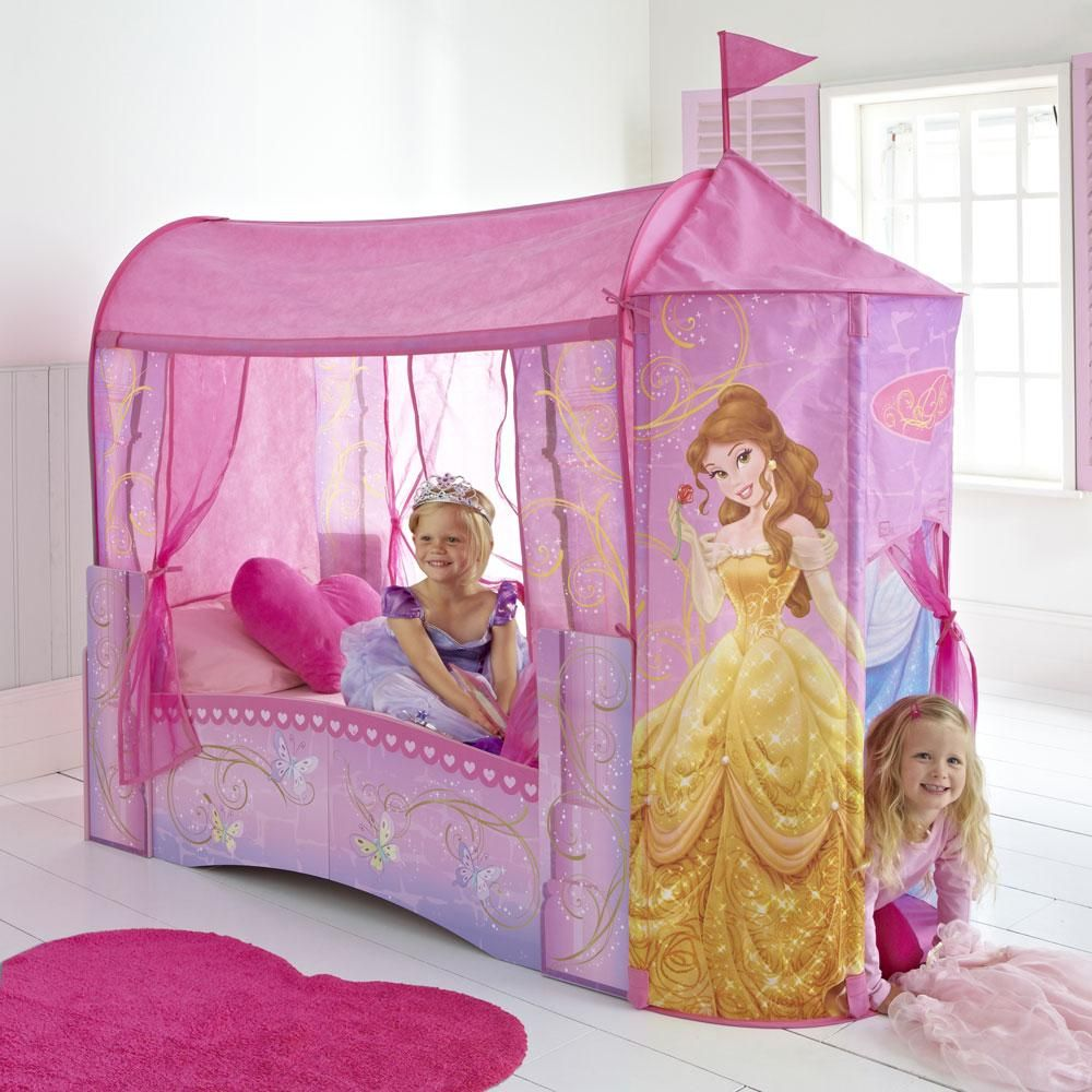 Disney Princess Feature Castle Toddler Bed available with three mattress options  sc 1 st  Pinterest : canopy for toddler princess bed - memphite.com