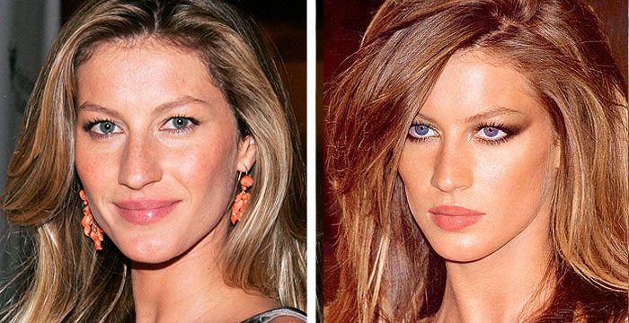 Celeb Plastic Surgery Nose Job Gisele Bundchen Before And After