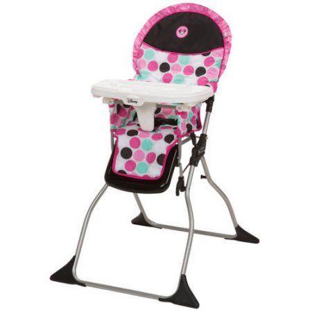 Stupendous Disney Simple Fold Plus High Chair Minnie Dottie White Creativecarmelina Interior Chair Design Creativecarmelinacom