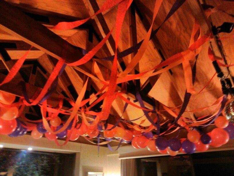 Decoración cumpleañera del techo