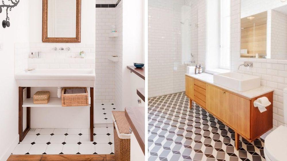 Dossier : Le carrelage dans la salle de bains | Carrelage, Sdb et ...