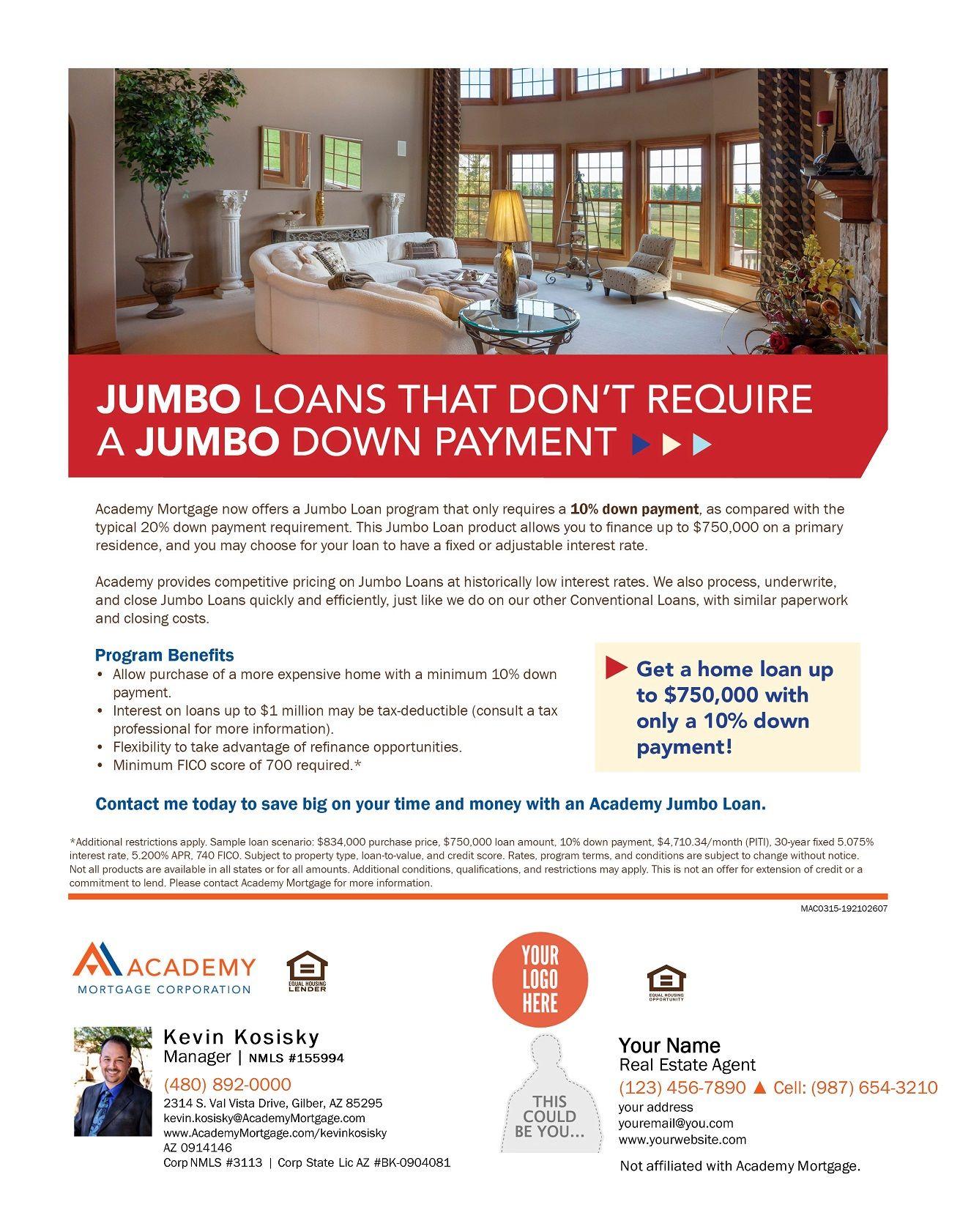 Jumbo Loans | Loan Program Flyers | Pinterest | Jumbo loans
