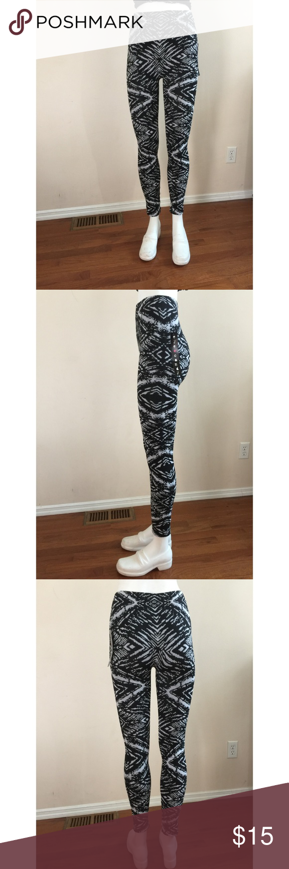 6b73dd7aad213b Eye Candy JR Plus Leggings Black & White Size S/M 92% Polyester, 8%  spandex. eye candy Pants Leggings
