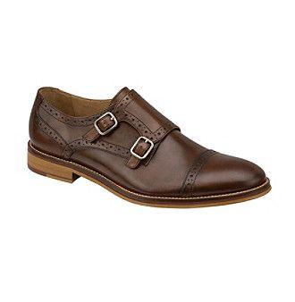"johnston  murphy® men's ""conrad"" wingtip monk strap shoes"