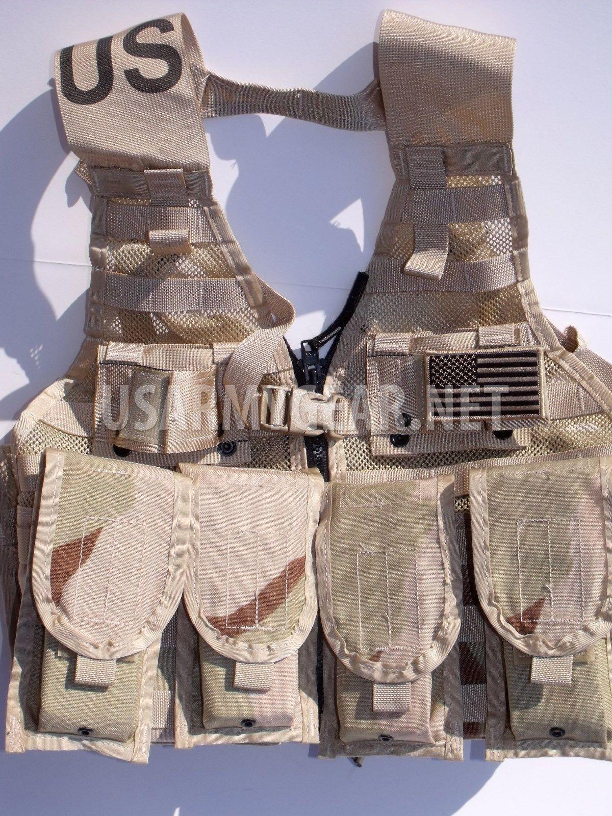 51d75a1178ac Loaded US Army MOLLE II Desert Fighting Vest, FLC w. 4 Double Pouch 2 K Bar  | US Army Gear
