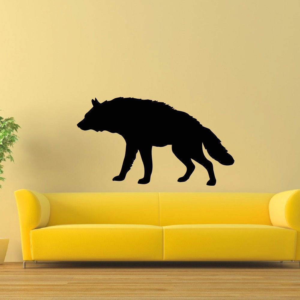 Prowling Wolf Vinyl Wall Art Decal Sticker | Your Pinterest Likes ...