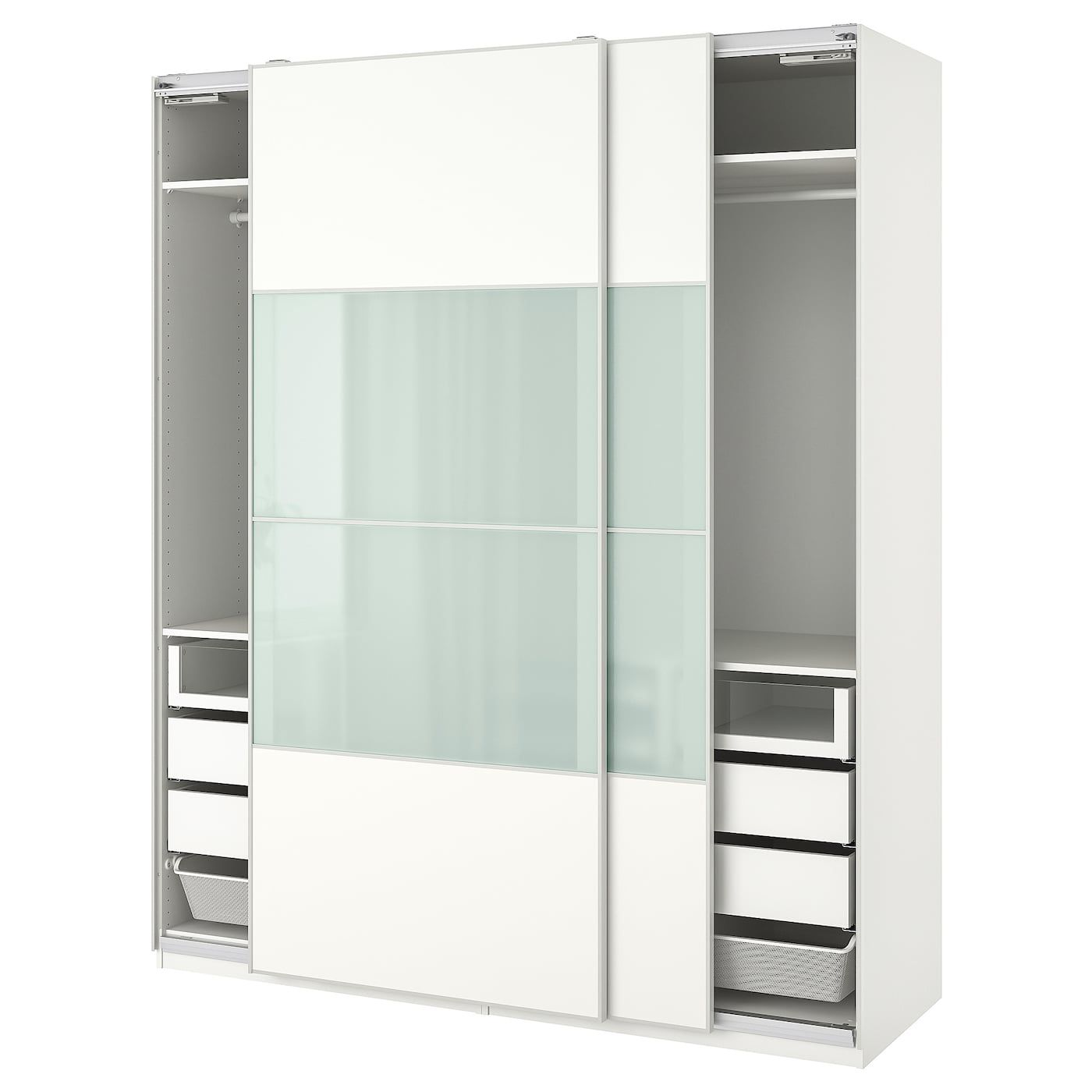 Ikea Tiroir Armoire Pax pax wardrobe - white, mehamn sekken 78 3/4x26x93 1/8
