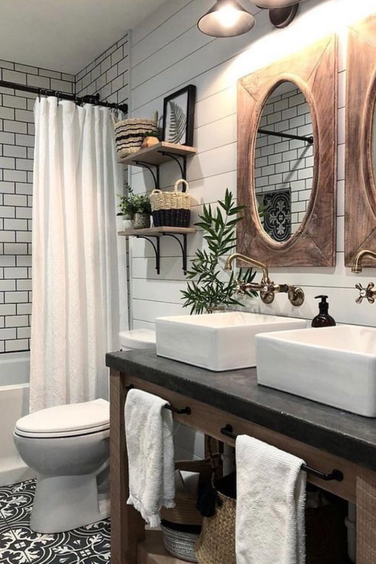 Make A Tiny Bathroom Look Infinitely Bigger With Neutral Colours That Run Along The Floor Up The Walls And Even Continue Bathrooms Remodel Tiny Bathrooms Home