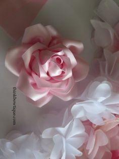 Fantastic Pics Satinband Rose Style Buttercreme Bögen Tulpen neigen dazu, ein …