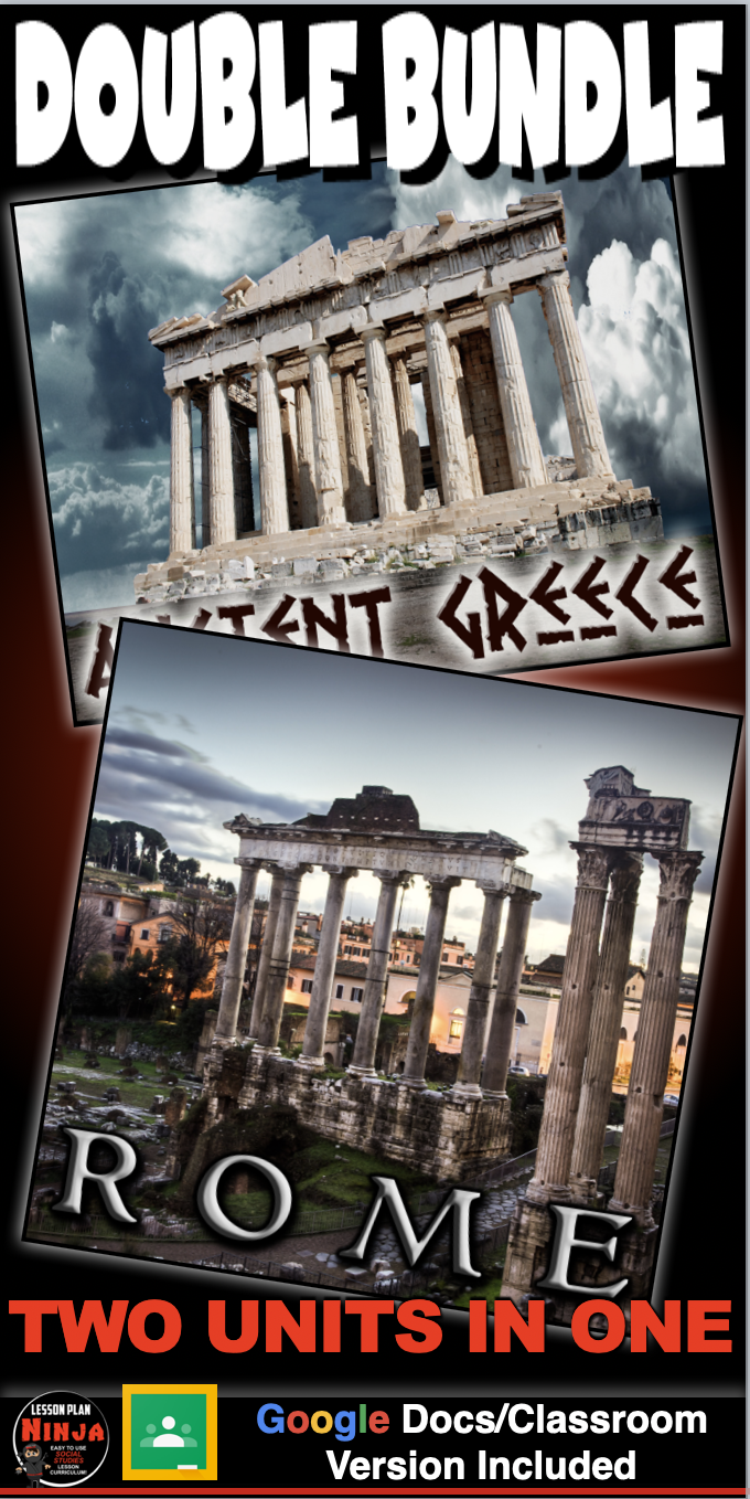 Photo of Greece & Rome Units: PPTs, Worksheets, Plans, Test + Distance Learning Versions