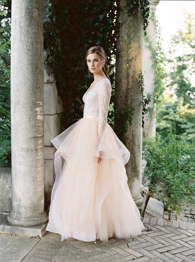 a980d3b6477 Laguna Lace Long Sleeve Top   Big Celebration Skirt - Bridal Separates. Custom  made wedding dress by Lace   Liberty