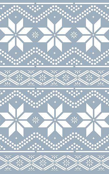 Nordic Pattern Stencil 1 Henny Donovan Motif Scandinavian Pattern Stencil Patterns Christmas Stencils