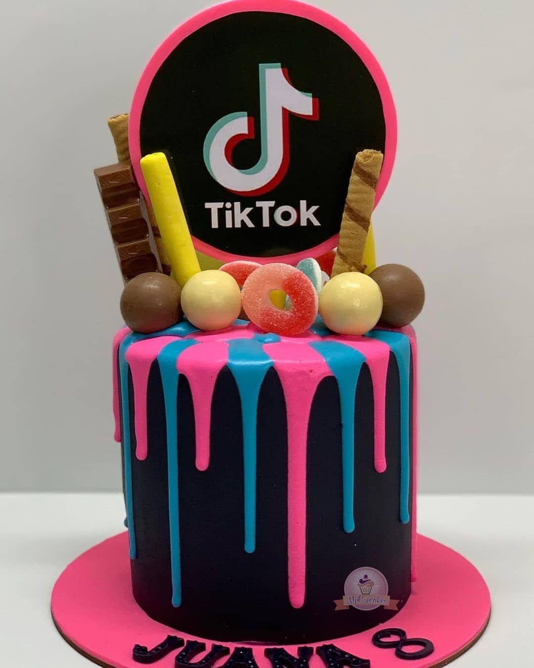 13 Cute Tik Tok Cake Ideas Some Are Absolutely Beautiful 14th Birthday Cakes Unique Birthday Cakes 13 Birthday Cake