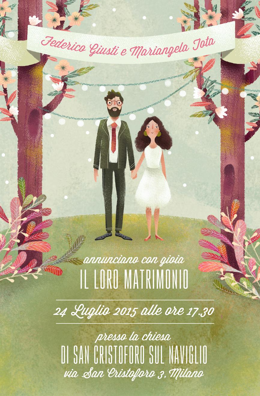 Wedding Illustration F M On Behance Illustrated Wedding Invitations Wedding Illustration Wedding Cards