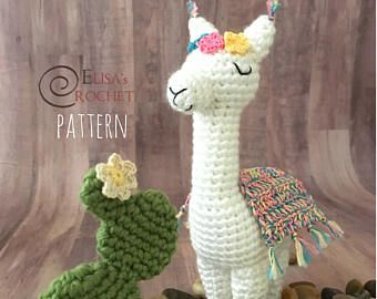 Alpaca Crochet Amigurumi : Crochet pattern violet the alpaca amigurumi doll stuffed doll