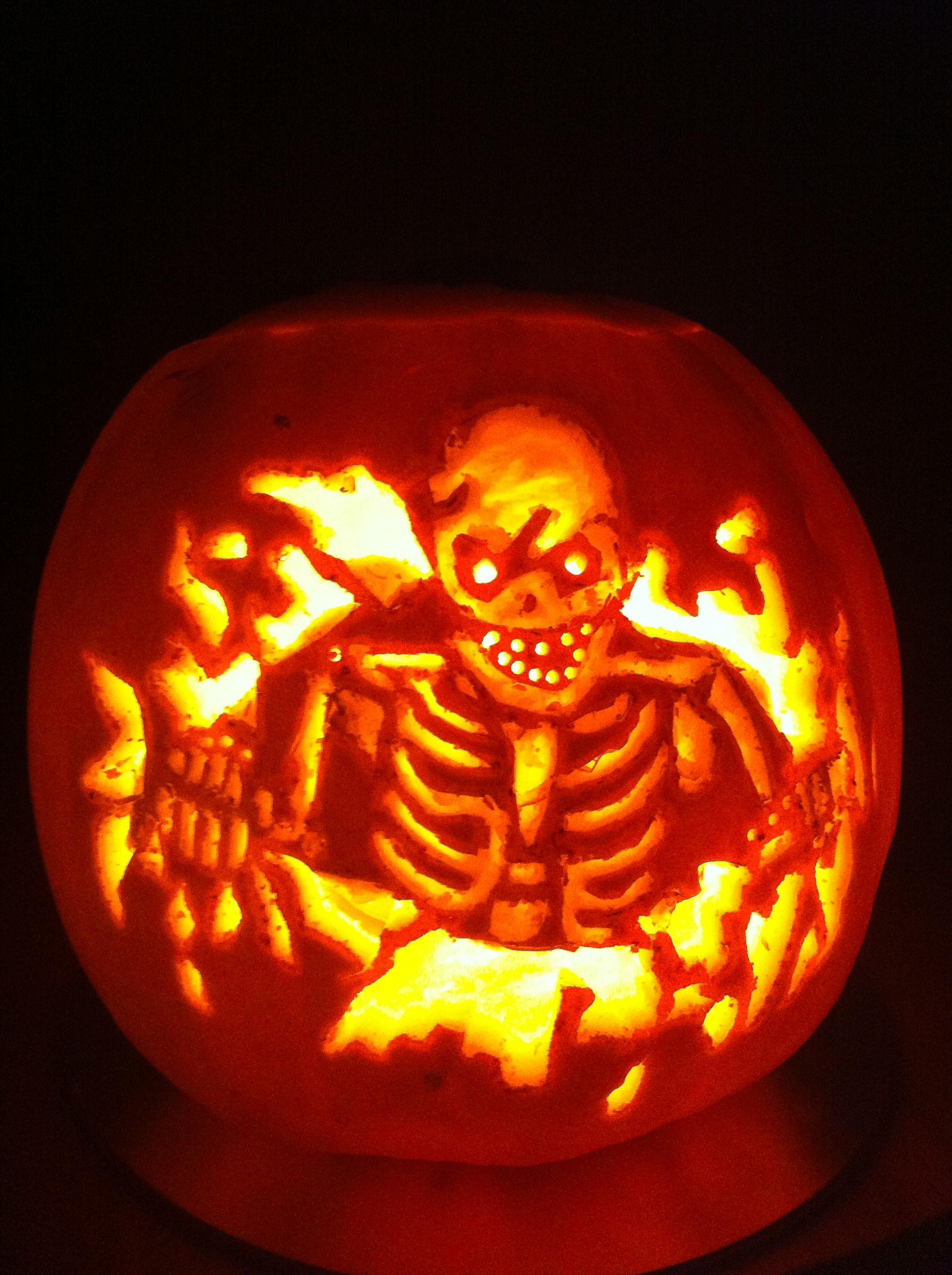 The Milligans Skelleton Pumpkin 2012