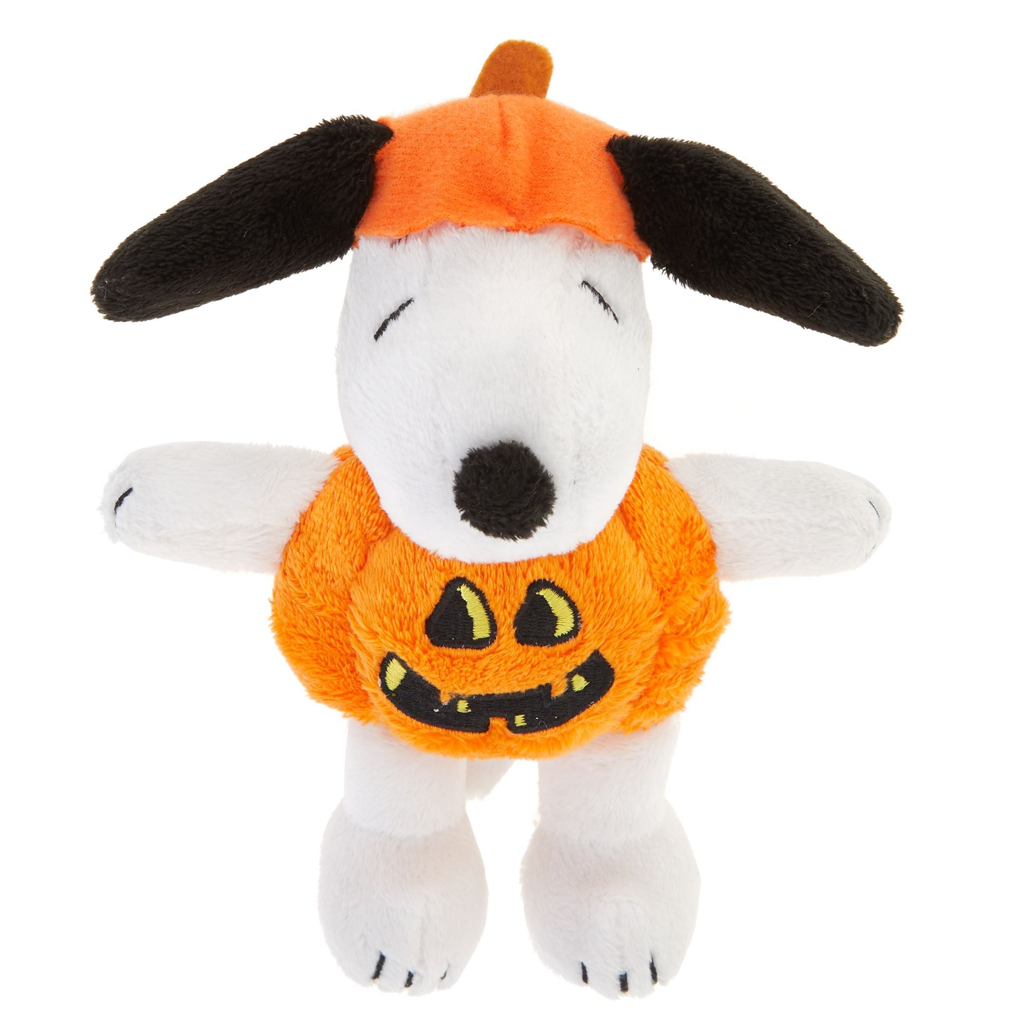 Peanuts Halloween Snoopy Pumpkin Dog Toy Plush, Squeaker