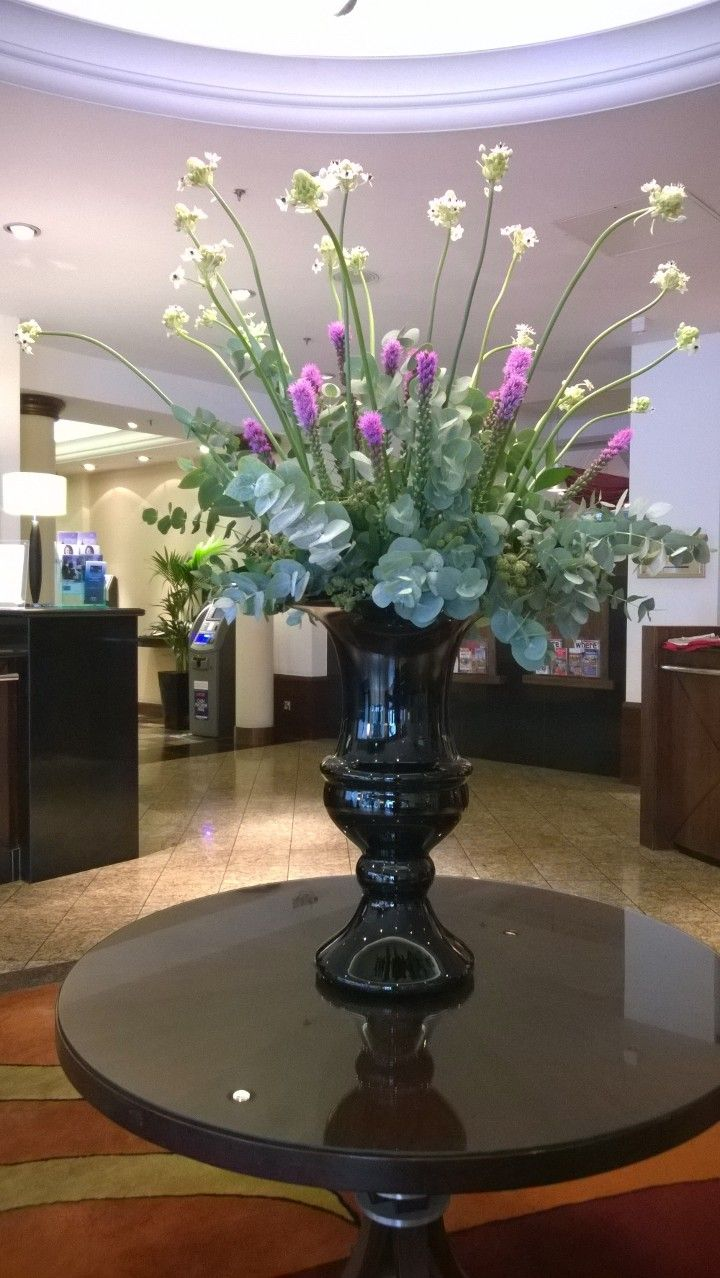 Dramatic bouquet - lobby flowers at the London Marriott Hotel Regents Park