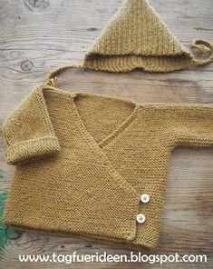 Baby-Wickeljacke noch eine Freebie-Strickanleitung - Tag für Ideen #strickanleitungbaby