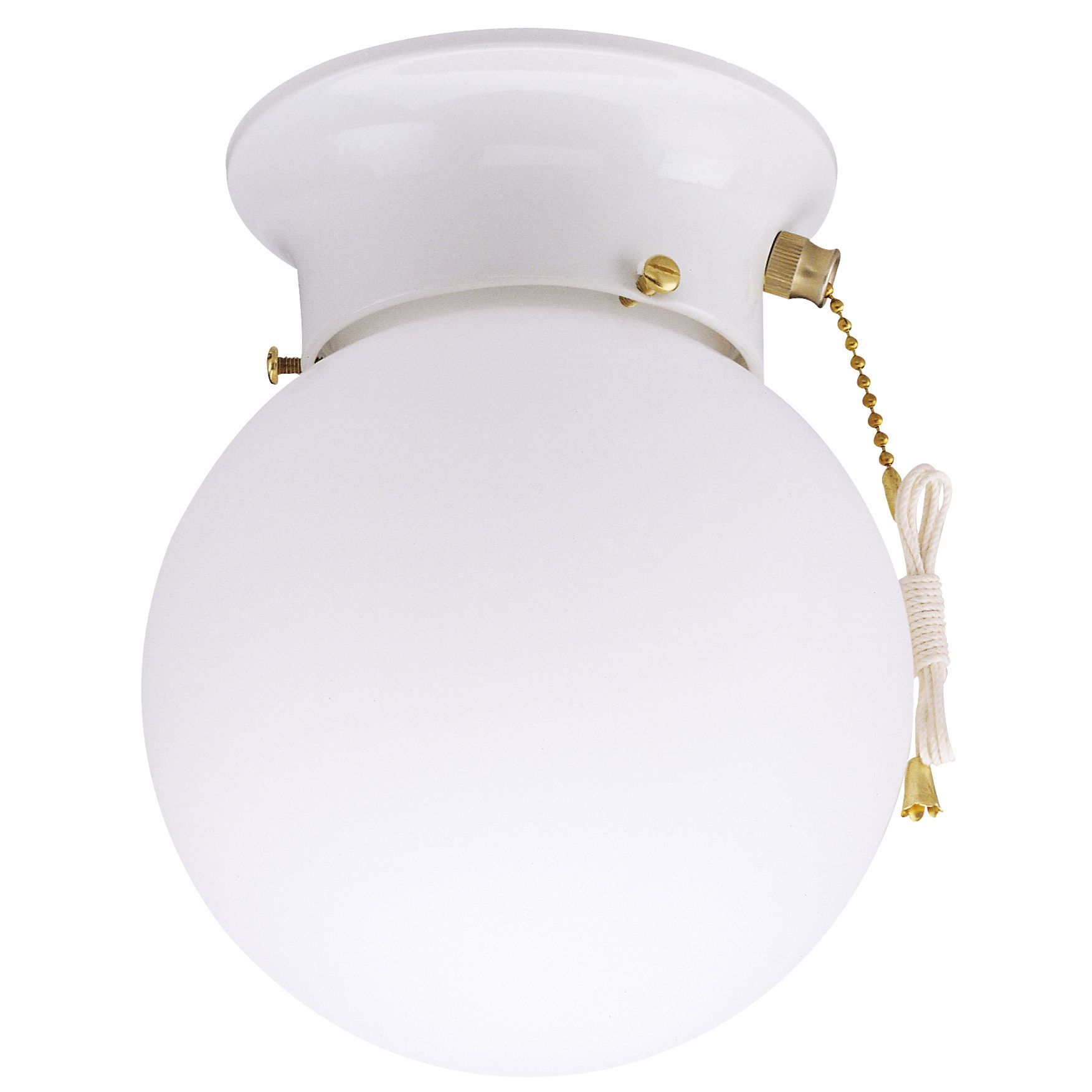 Ceiling Light Fixtures With Pull Chain Amusing Westinghouse 6668000 White Ceiling Light With Pull Chain Lights Review