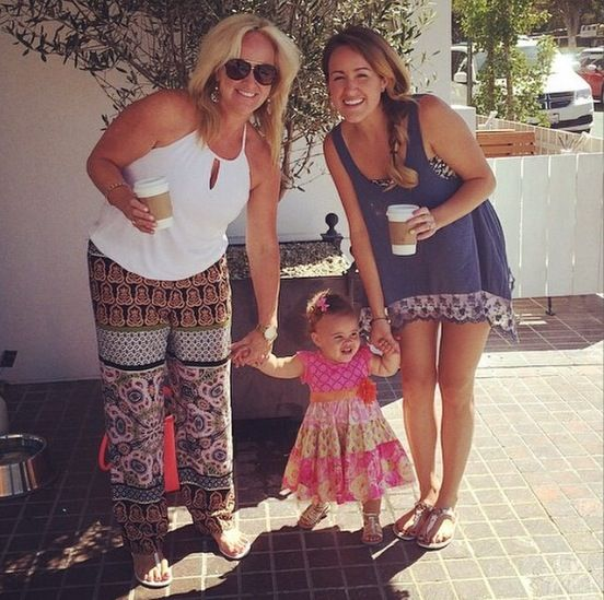 Britt and her mom with Ella! #Family