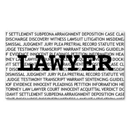 Lawyer Words Business Card This great business card design is - business petition