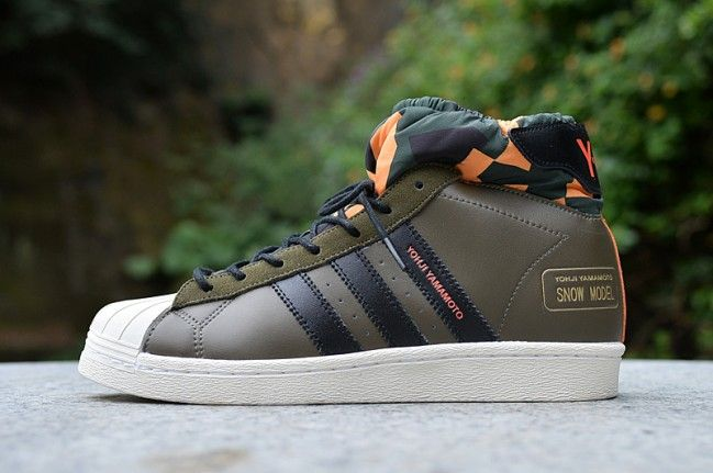 af71b9233f898 adidas Y-3 Snow Model Mid Retro Shell head Mens army green