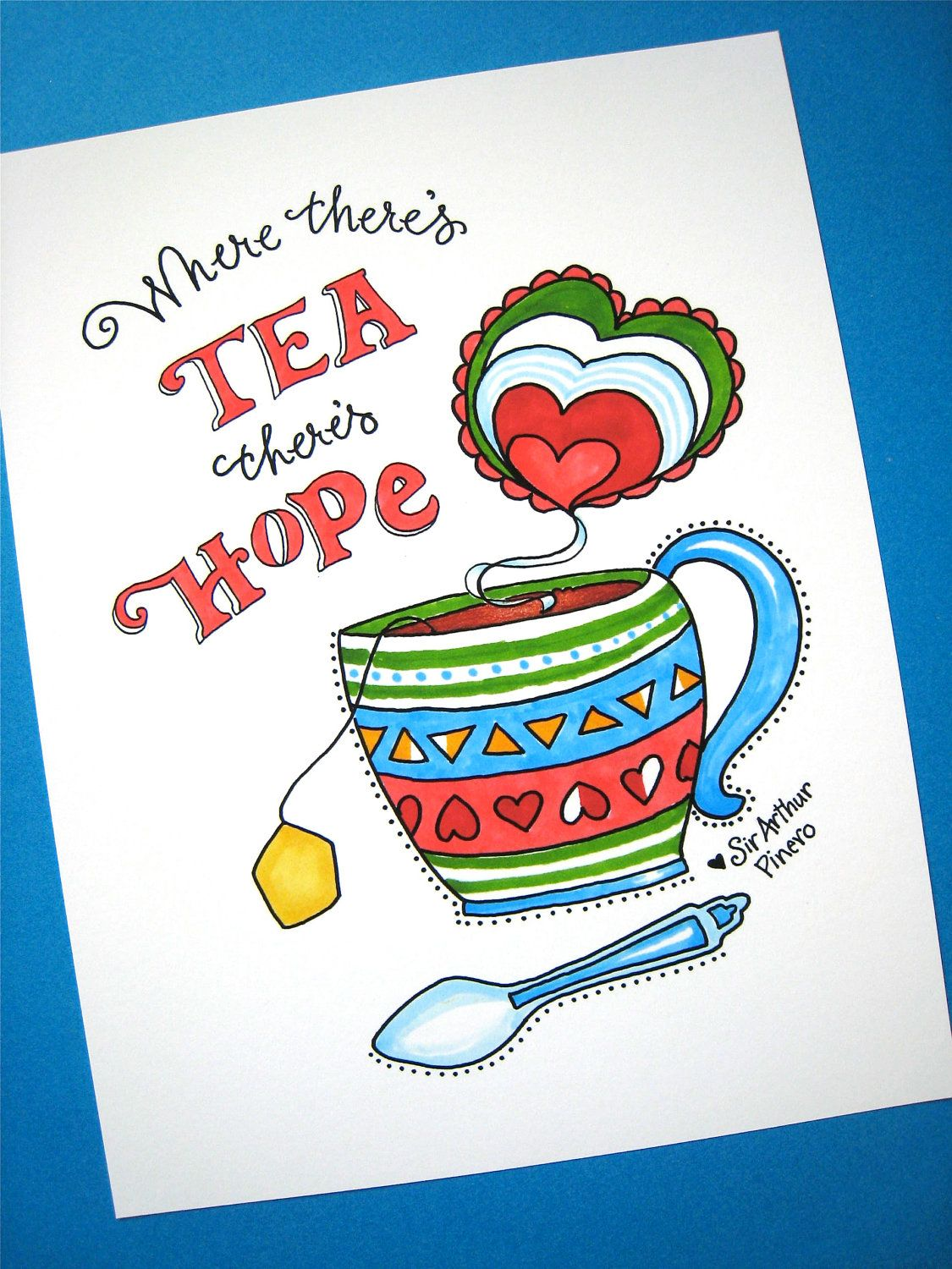 Quotes About Tea And Friendship Tea Art Kitchen Print Tea Friendship Quote  Where There's Tea