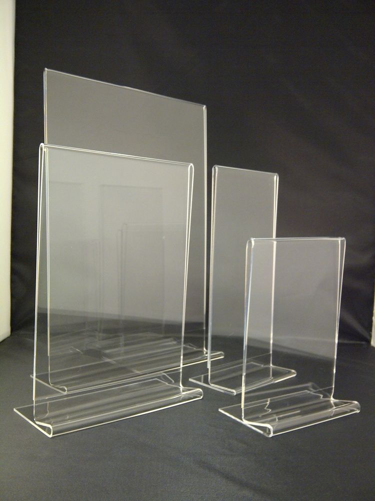 Plastic Acrylic Perspex 174 Menu Holder Display Leaflet Flyer