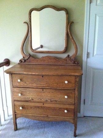 Oak dresser with mirror $200 Columbia MD craig s list