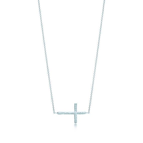 5a226d627 Paloma Picasso® Hammered cross pendant in sterling silver, small. | Tiffany  & Co.