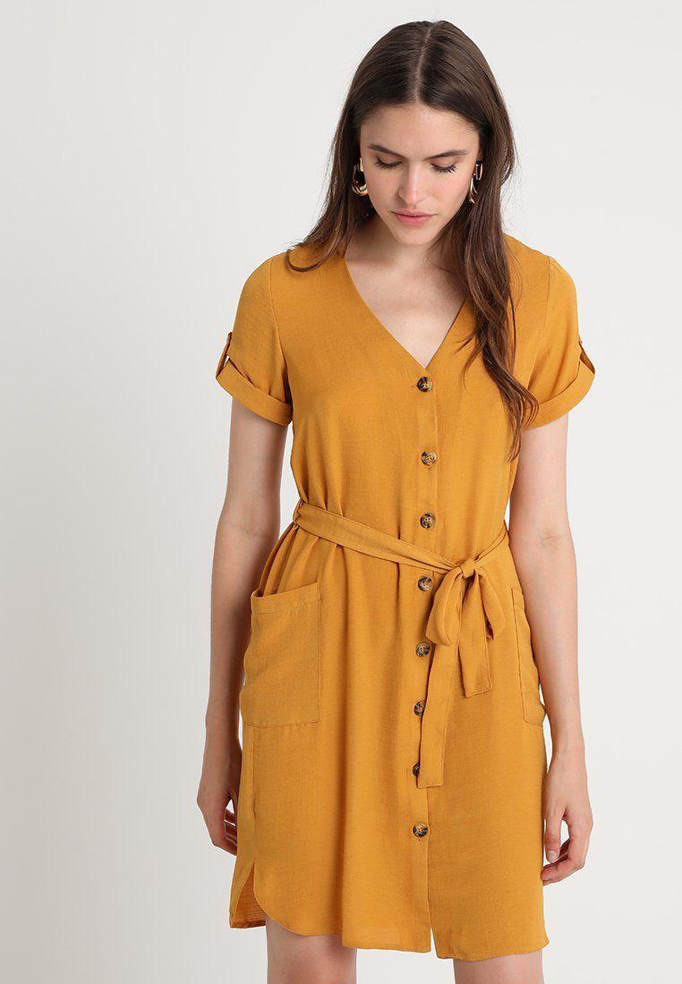 252f64f40e8 Dorothy Perkins SHIRT DRESS - Blusenkleid - ochre - Zalando.at