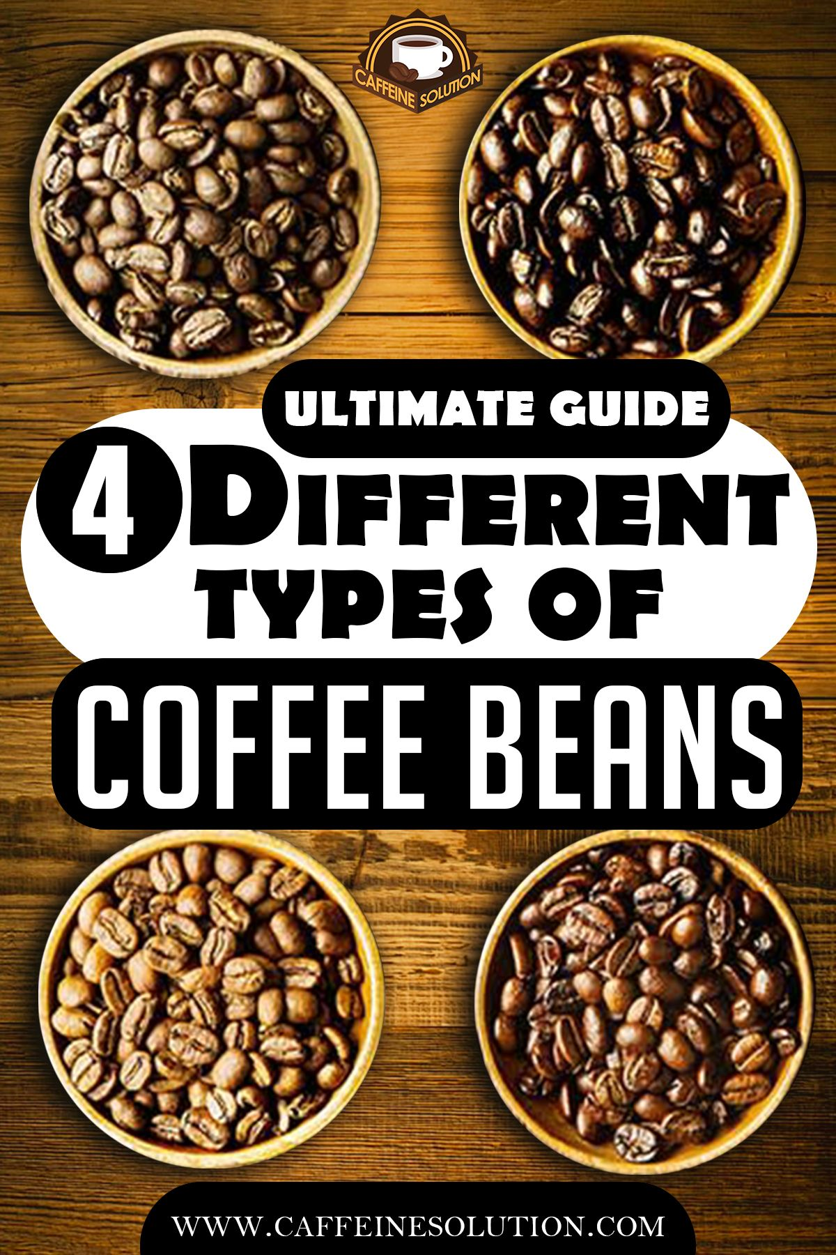 The Ultimate Guide To The 4 Different Types Of Coffee Beans Types Of Coffee Beans Coffee Type Different Types Of Coffee