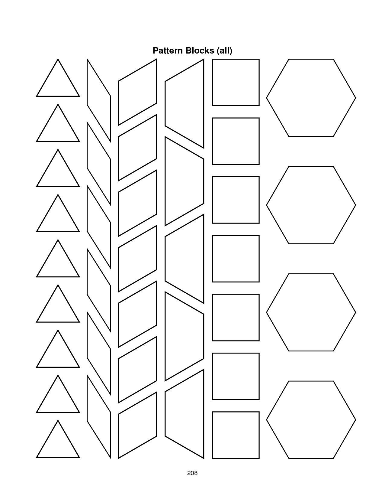 28 Images Of Blank Alphabet Pattern Block Template   Migapps with Blank Pattern  Block Templates…   Pattern block templates [ 1650 x 1275 Pixel ]