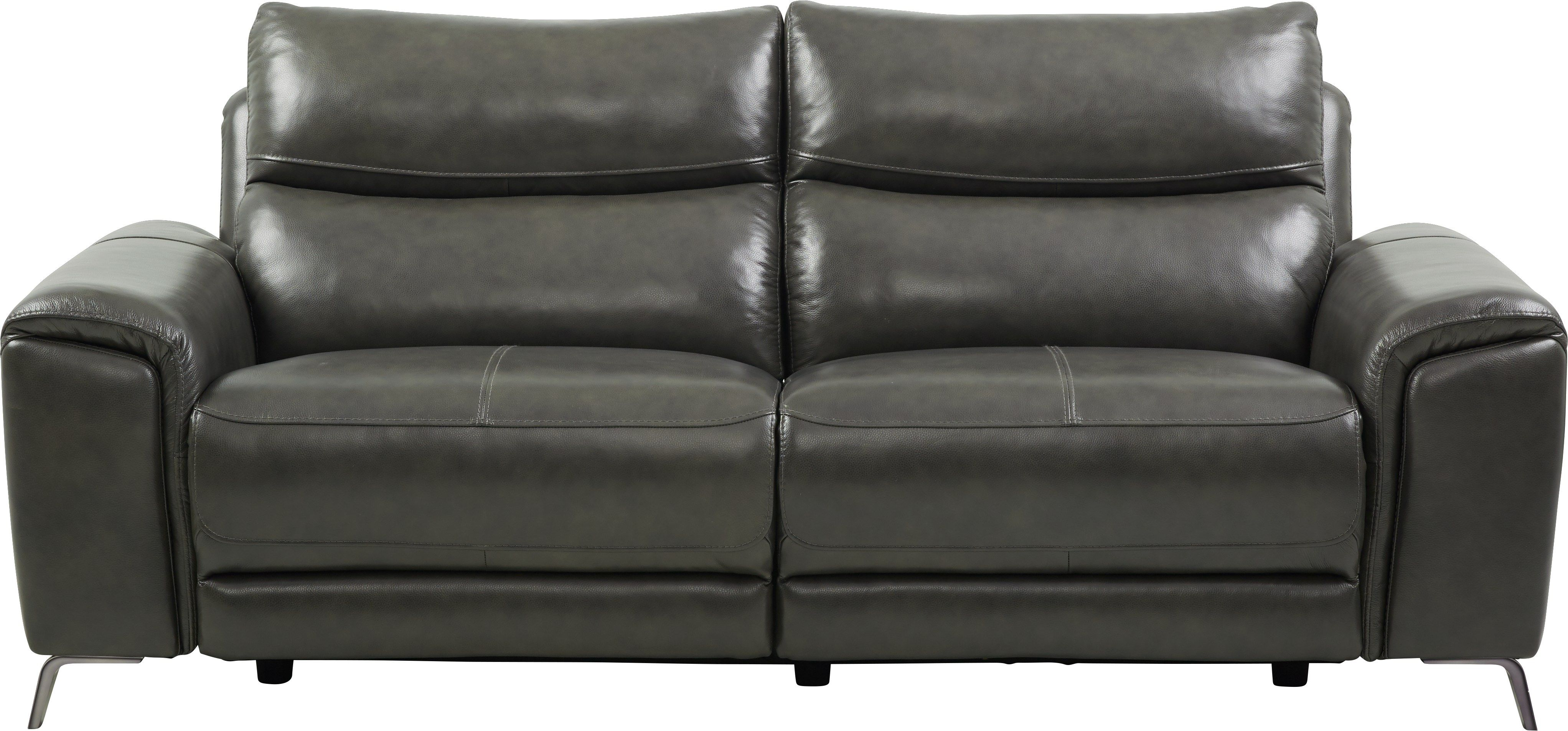 Rosato Gray Leather Power Reclining Sofa Power Reclining Sofa Leather Sofa Bed Grey Leather Reclining Sofa